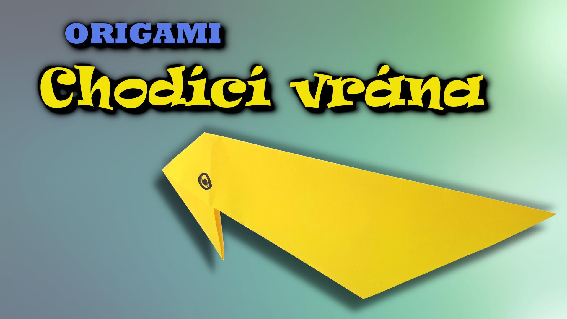 Origami chodící vrána - jak složit vránu z papíru