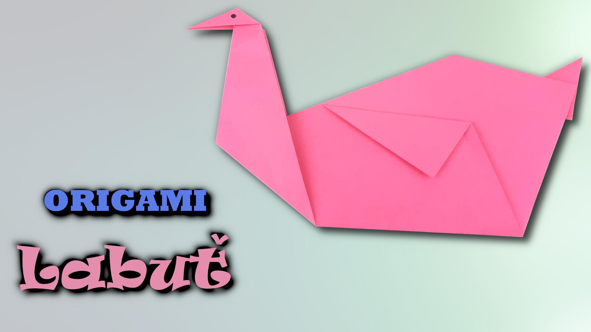 Origami Labuť | Jak vyrobit labuť z papíru