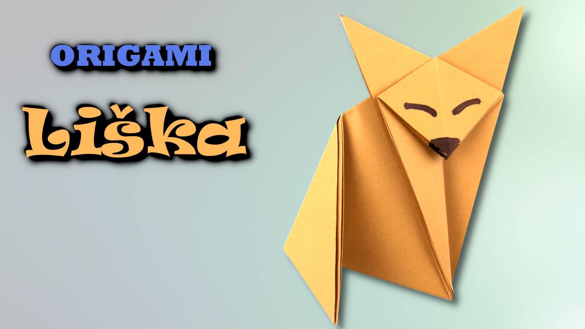 Origami Liška | Jak složit lišku z papíru
