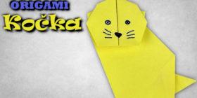 Origami kočka - jak vyrobit kočku z papíru