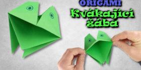 Origami kvákající žába | Jak vyrobit mluvící žábu z papíru