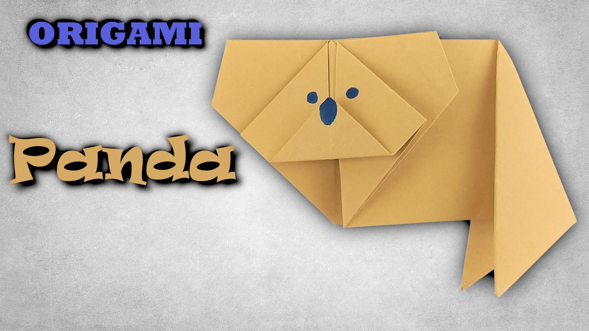 Origami panda   Jak složit pandu červenou z papíru