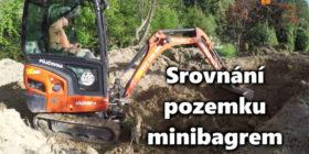 Zahradni upravy-srovnání pozemku minibagrem-stavba opěrné zdi
