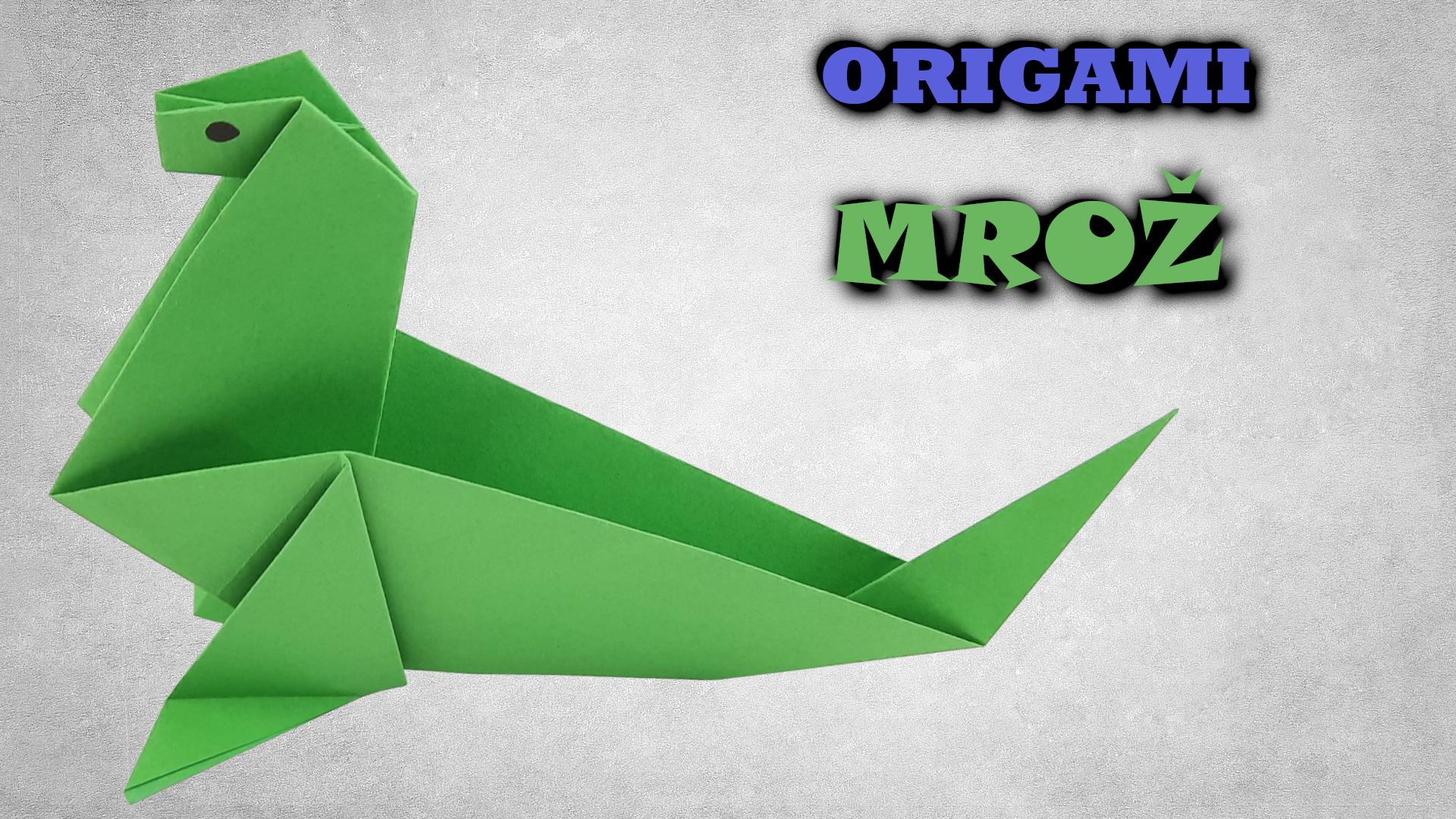 Origami Mrož | Jak vyrobit mrože z papíru