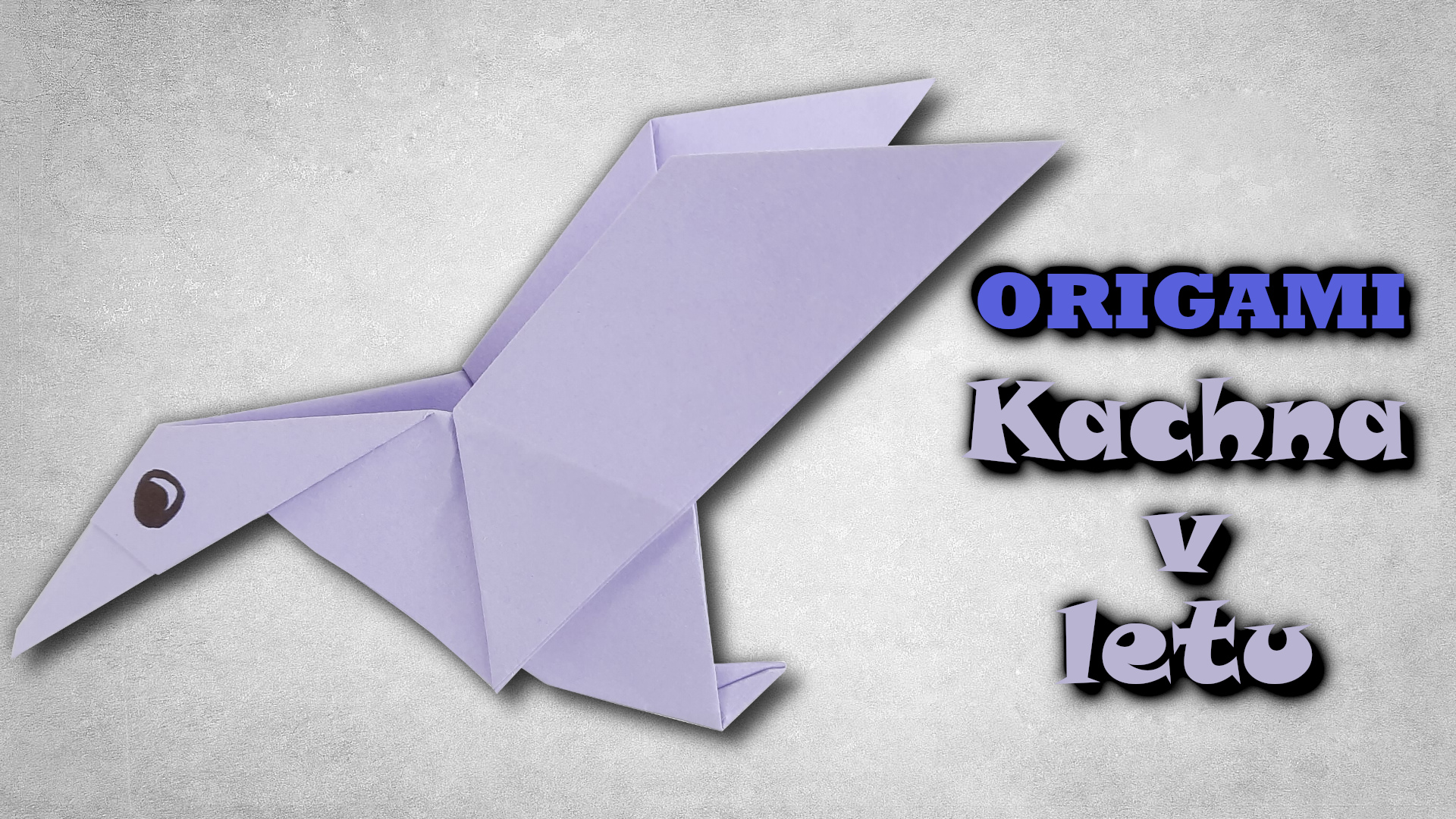 Origami Kachna v letu