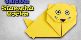 Origami siamská kočka | Jak vyrobit kočku z papíru