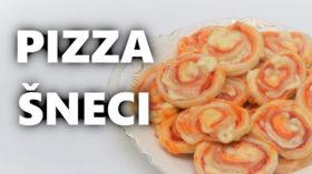 Pizza šneci z listového těsta - recept